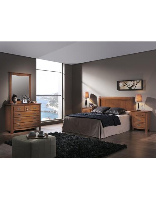 Composición Dormitorio Rústico 220