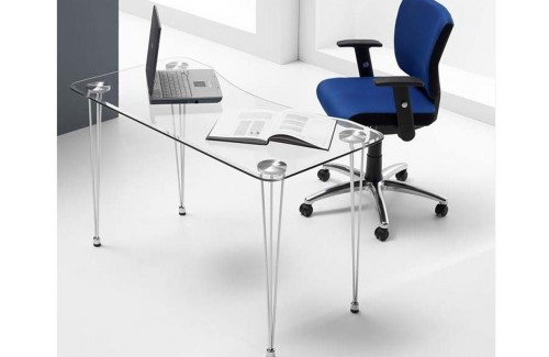 Mesa cristal escritorio
