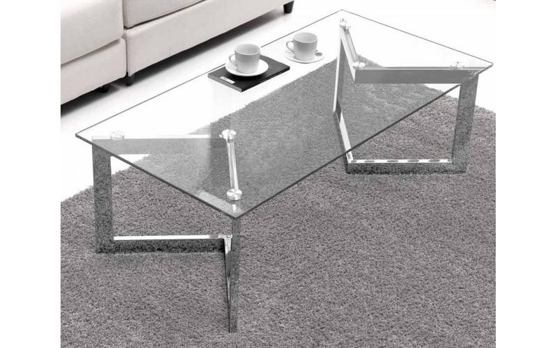 Mesa centro cristal charlize