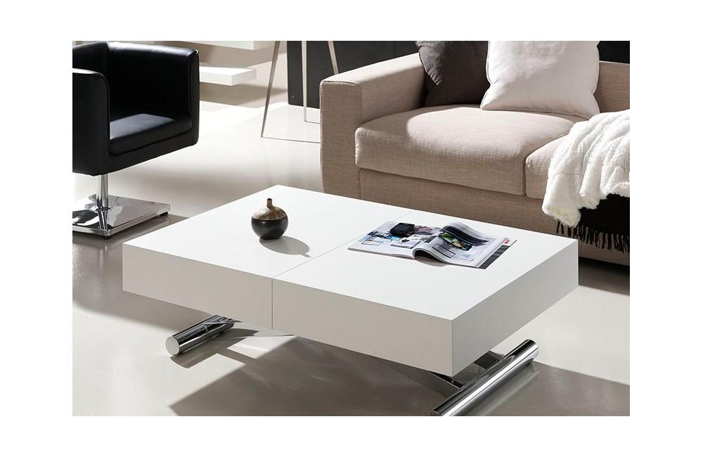 Mesa Centro Comedor Elevable-Extensible con motor eléctrico ...
