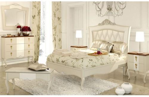 Dormitorio Neo Clásico Spago colección Perlatto