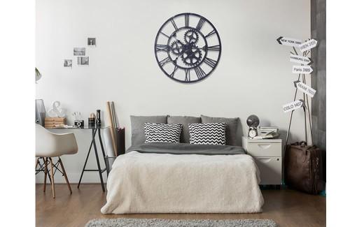 Reloj pared metal Ventilador