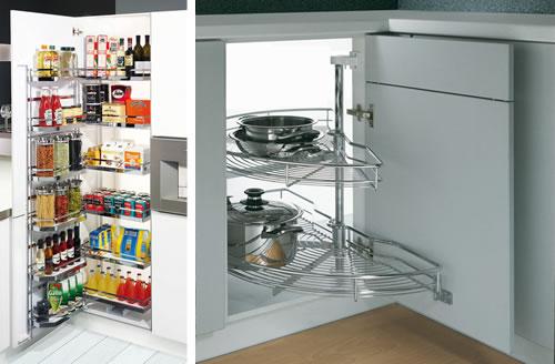 Equipación para interior de muebles de cocina. Cacerolero.